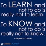 Learn and know